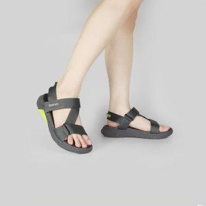 Giày Sandal chính hãng Buenas - F7 Xám đen - Giày sandal nữ