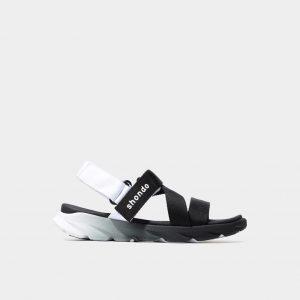 Giày sandal Shondo chính hãng F6 - 110 - Đen quai trắng - Giày sandal nam nữ